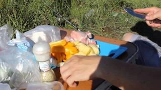 Риболовля на водосбросе в п. Озерний 8-9 серпня 2015р.