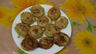 Жареные кабачки в кляре, рецепт приготовления с фаршем