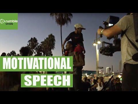 Kevin Hart gives motivational speech for Nike 5K run