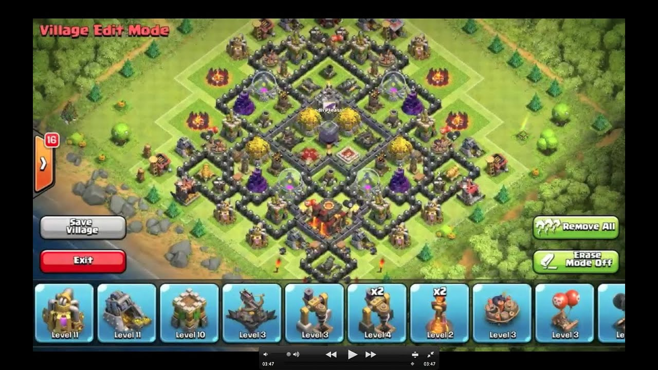 Clash of clans th9 farming base 9 quot after halloween update quot youtube