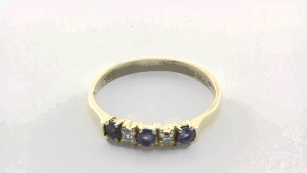 ring saffier diamant