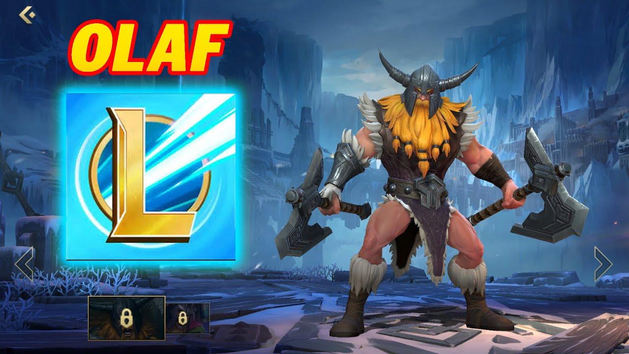 Liên Minh Mobile : Trải Nghiệm Olaf Trên Điện Thoại - GamePlay Olaf Wild Rift