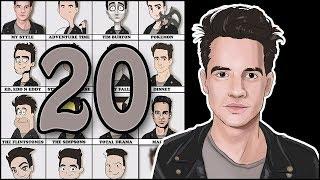 20 ART STYLES CHALLENGE Brendon Urie