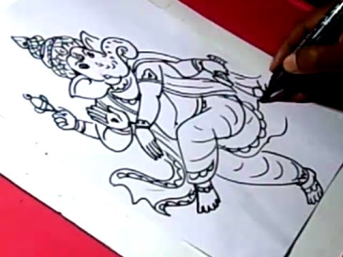 How to draw lord vignesh ganesh drawing step by step for kids