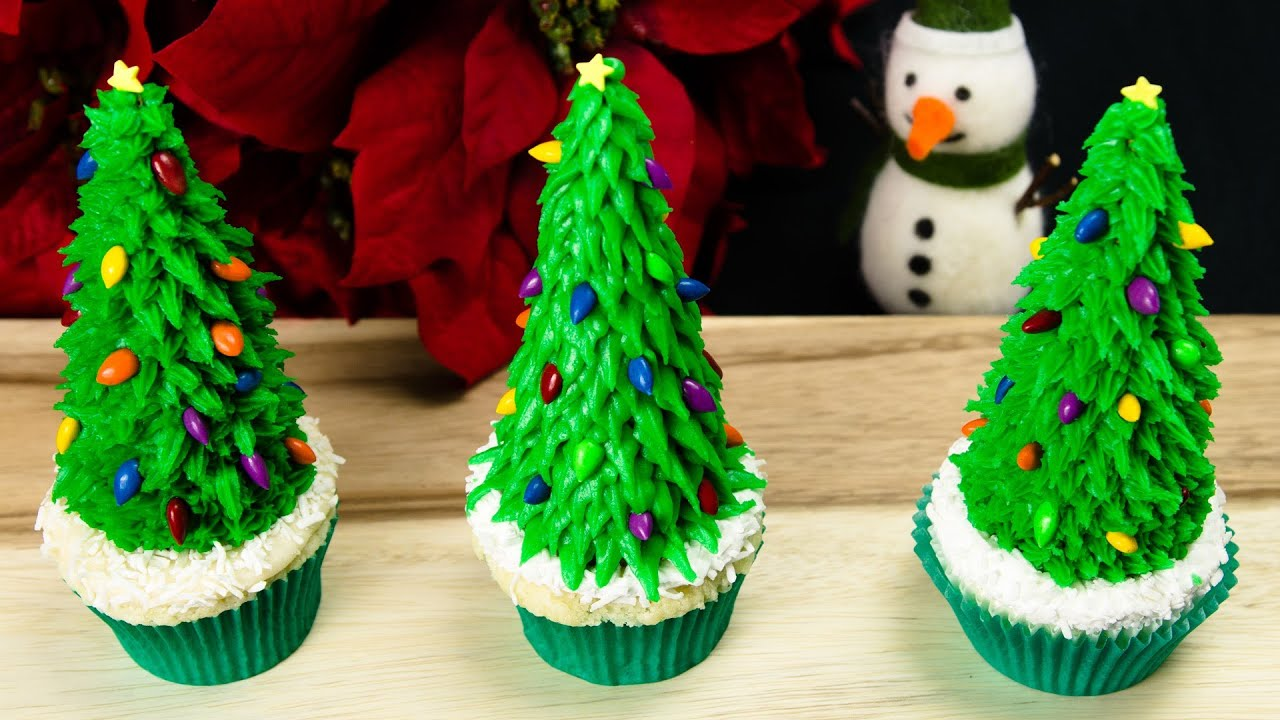 christmas tree cupcakes christmas cupcakes from cookies cupcakes and cardio youtube