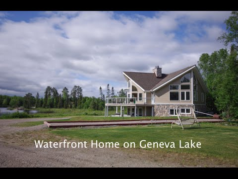 custom waterfront home on geneva lake cartier on near sudbury rh youtube com Luxury Lake Homes Luxury Lake Homes