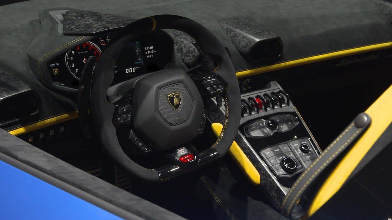 Lamborghini Huracan Performante Spyder Interior Details Youtube