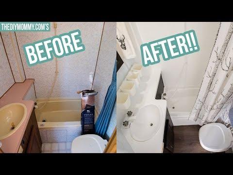 RV Bathroom Makeover On A Budget