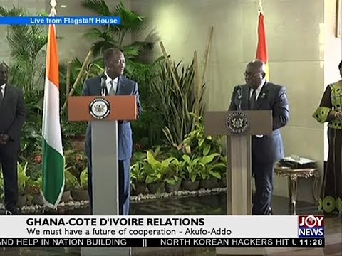 Ghana-Cote D'Ivoire Relations - News Desk on Joy News (17-10