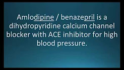 How to pronounce amlodipine / benazepril (Lotrel) (Memorizing Pharmacology Flashcard)