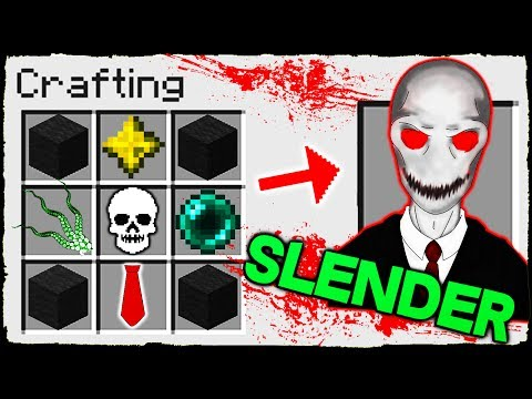 Minecraft - How to Summon SLENDERMAN in Crafting Table!