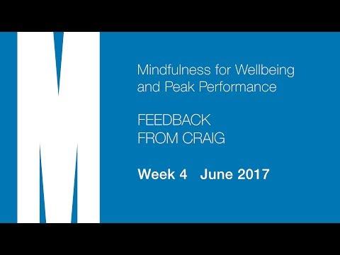 Feedback from Craig - Week 4 - June 2017