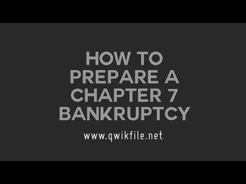 How to Prepare a Chapter 7 Bankruptcy (2017)