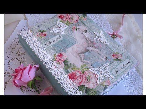 Lock & Key Book Jewelry Box for Girl Decoupage DIY. How to use silicone mold