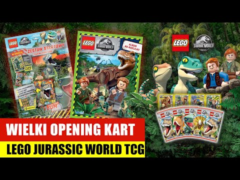 Wielki opening kart Lego Jurassic World TCG |