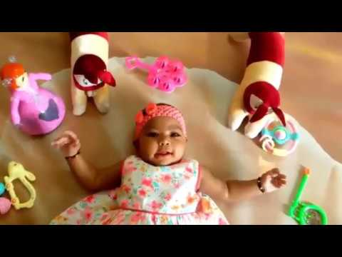 3cffb2e06e74 5 Months Old Baby (My Daughter) Development and Fun Activities (Playing) ||  Jitendra