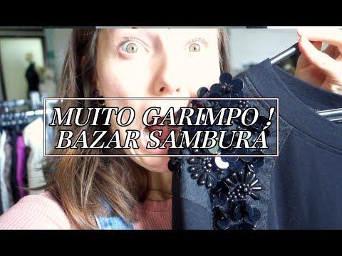 CONHECENDO O BAZAR SAMBURÁ EM SP   MUITO GARIMPO DE MARCA FARM, ZARA...