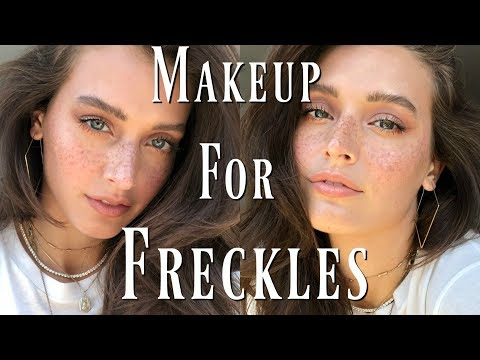 Everyday Makeup For Freckles | Foundation for Freckles & Faux Freckle How-To