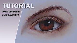 Como desenhar olho castanho - How to draw brown eyes