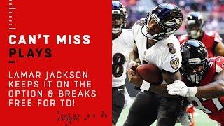 Lamar Jackson Keeps it on the Option & Breaks Free for TD!