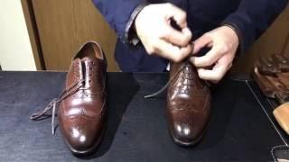 靴磨き Shoeshine Edward Green Last 82 Malvern Dark Oak   Uncut Edition 【ASMR】
