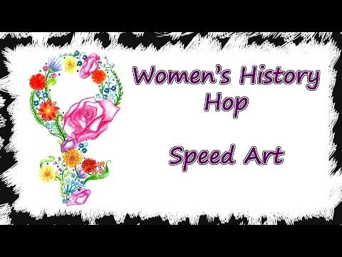 #IC Women's History Hop - Female Symbol - Speed Art