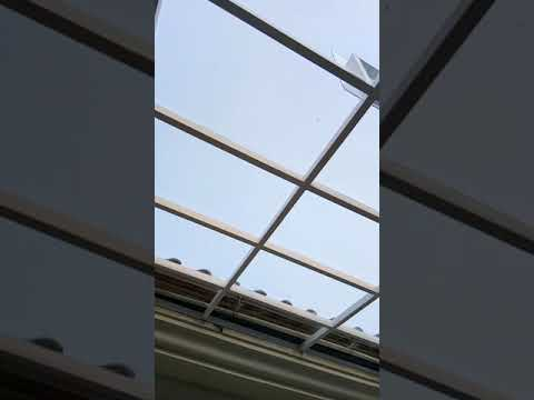 Kanopi Void atap transparan Solarflat 3mm clear polos