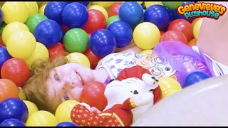 Genevieve Plays at Indoor Playground with Slides and Ball Pits!