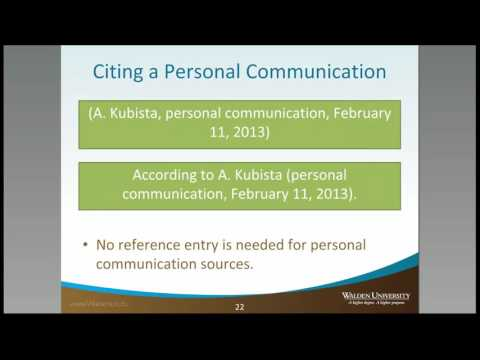 Personal Communication - Citations - Academic Guides at