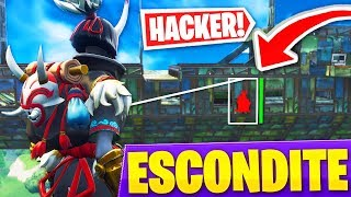 PLAYING THE HIDE WITH A 'HACKER' IN FORTNITE'S BANKS - Roier