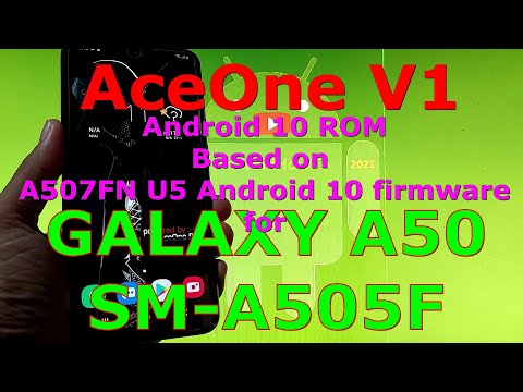 AceOne V1 Android 10 One UI 2.5 for Samsung Galaxy A50