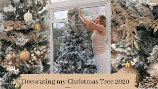 DECORATING MY CHRISTMAS TREE 2020 - LUX ON A BUDGET | NEUTRAL + CHAMPAGNE GOLD + WHITE -Tanya Louise