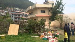 Nepal Earthquake 2015 Building Collapsed in Ramkot