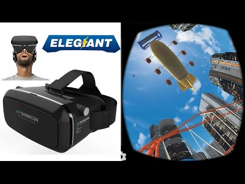 Elegiant VR Shinecon The Best 3D Virtual Glasses Unboxing and Review