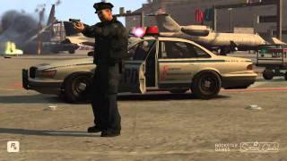 GTA 4 Police War Airport shooting