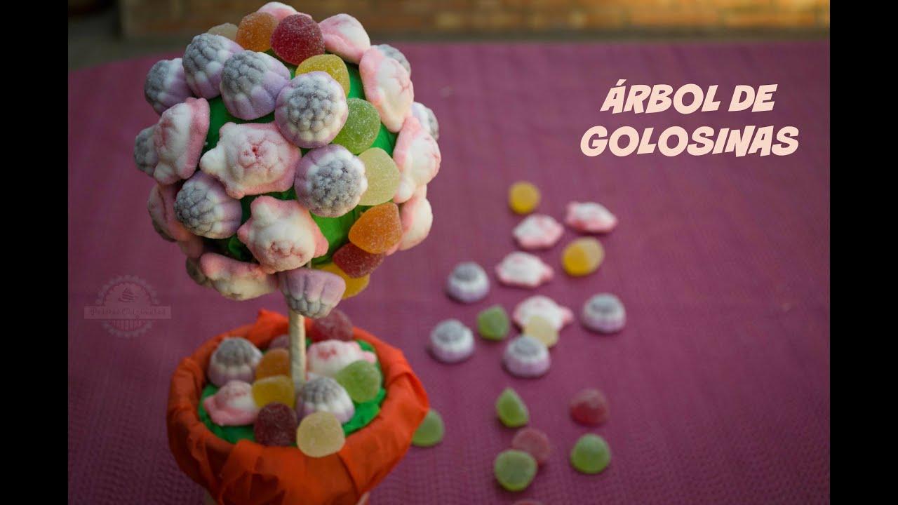 Rbol de golosinas decoraci n mesa dulce fiesta for Decoracion para mesa dulce