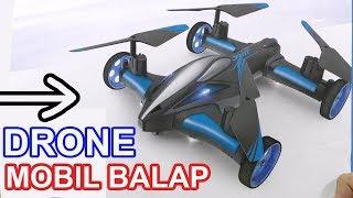 DRONE UNIK MOBIL BALAP, AIRBAG, MENYALA BERFAEDAH