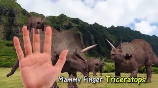 Finger Family Dinosaur 3d Family Nursery Rhyme | Funny Finger Family Songs For Children In