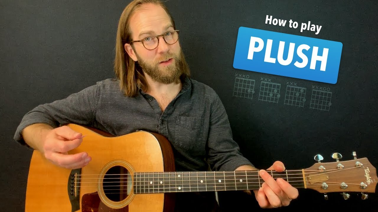 Plush • Acoustic w/ tabs • STP guitar lesson – learn how to