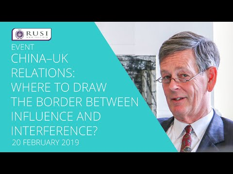 China–UK Relations: Where to Draw the Border Between Influence and Interference?