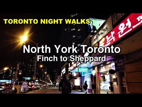 North York night walk along Yonge Street - Toronto 2019 [4K]
