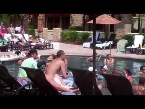 Adult Pool fun with DJ's at L'Auberge Casino Resort Lake Charles, LA