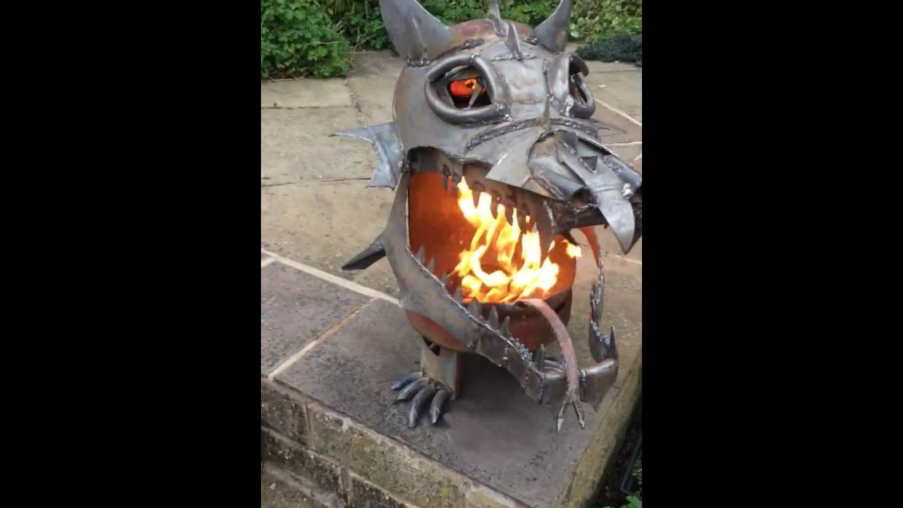Viral Video Uk Dragon Fire Pit Youtube