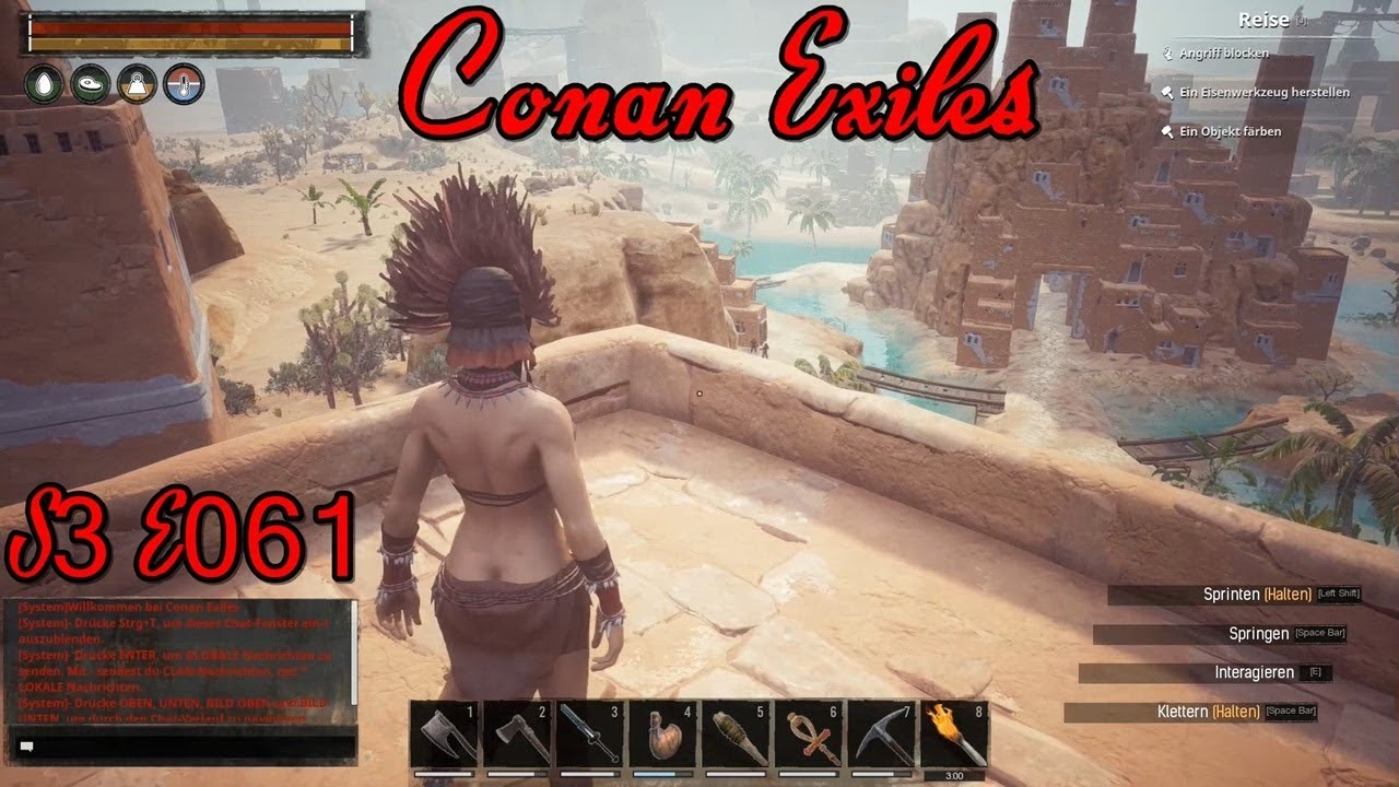 Hoch oben auf der Stadtஓ Conan Exiles ஓ [S3E061][German] - YouTube