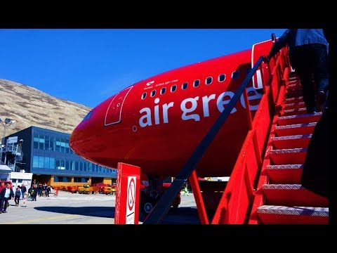 Takeoff Kangerlussuaq Greenland on Air Greenland A330