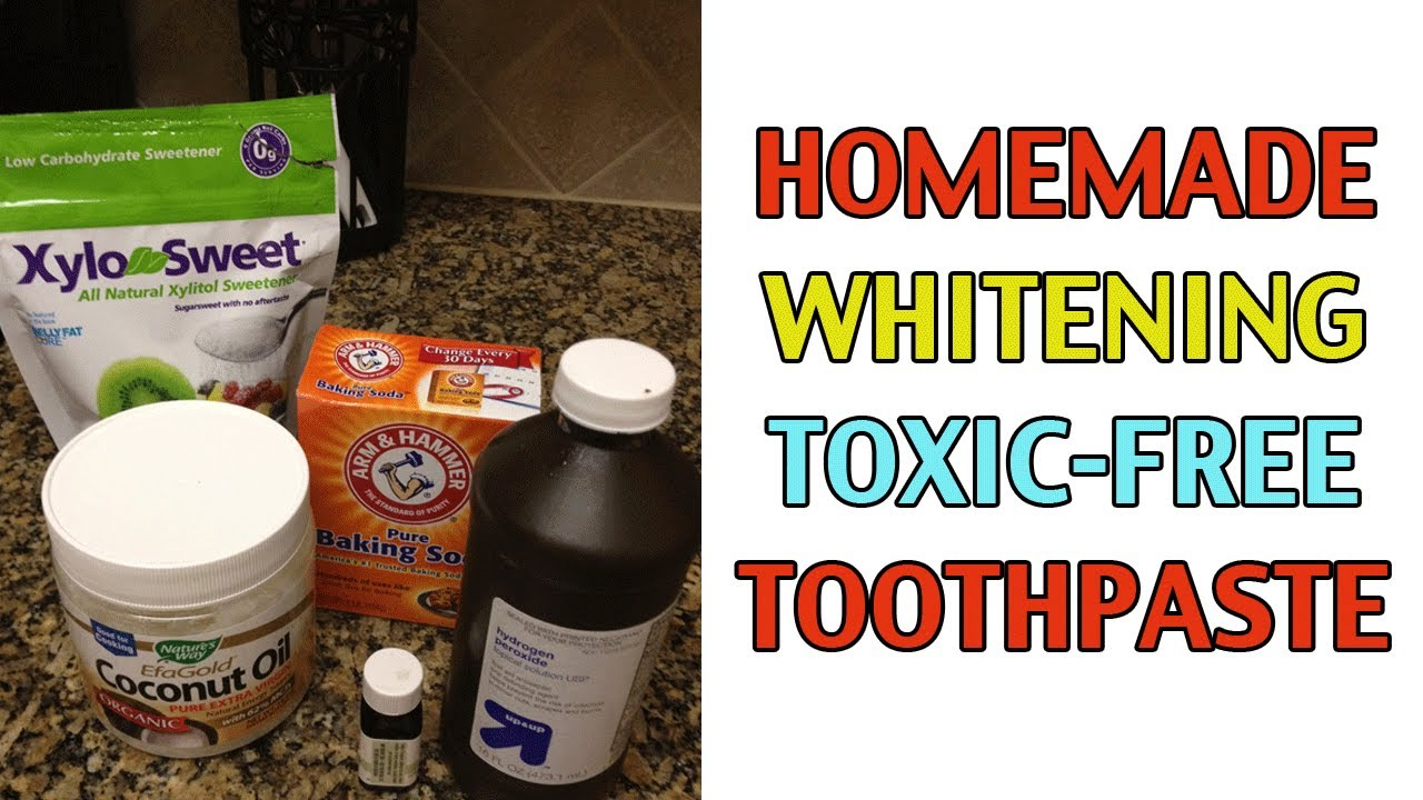 homemade whitening toothpaste recipe w baking soda youtube. Black Bedroom Furniture Sets. Home Design Ideas