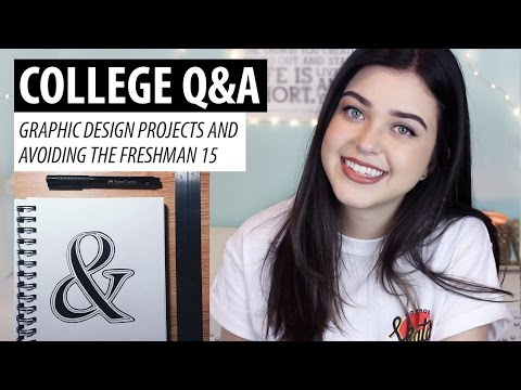 College Q&A #2 | Graphic Design Projects & Avoiding the Freshman 15 | lindseyrem