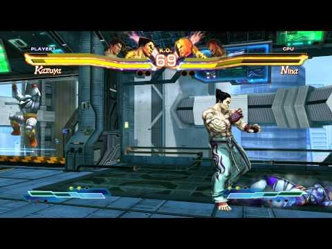 Video Gameplay Street Fighter X Tekken : Jin / Kazuya VS Ryu / Nina [Beginner]