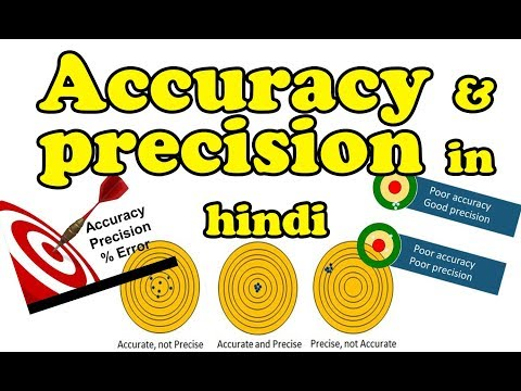 What is the difference between precision and accuracy in hindi | explain Accuracy and Precision