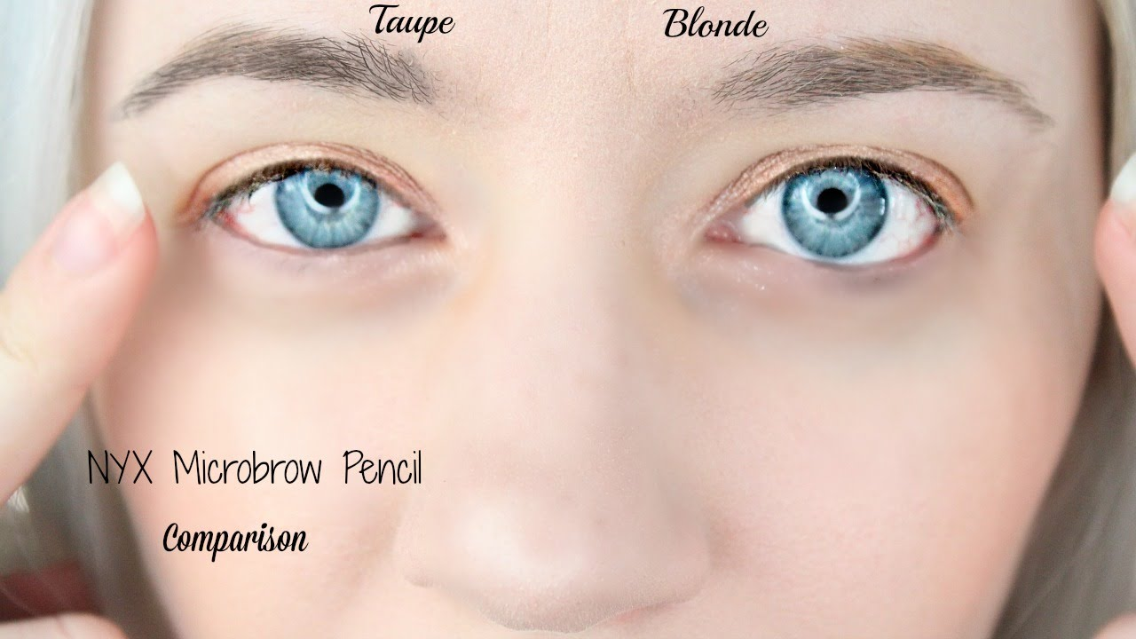Nyx Micro Brow Pencils Comparison Blonde Vs Taupe Youtube